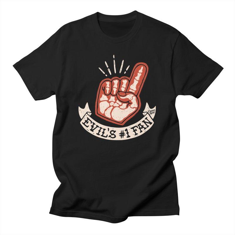 Evil's Number One Fan by Casper Spell Men's T-Shirt by Casper Spell's Shop