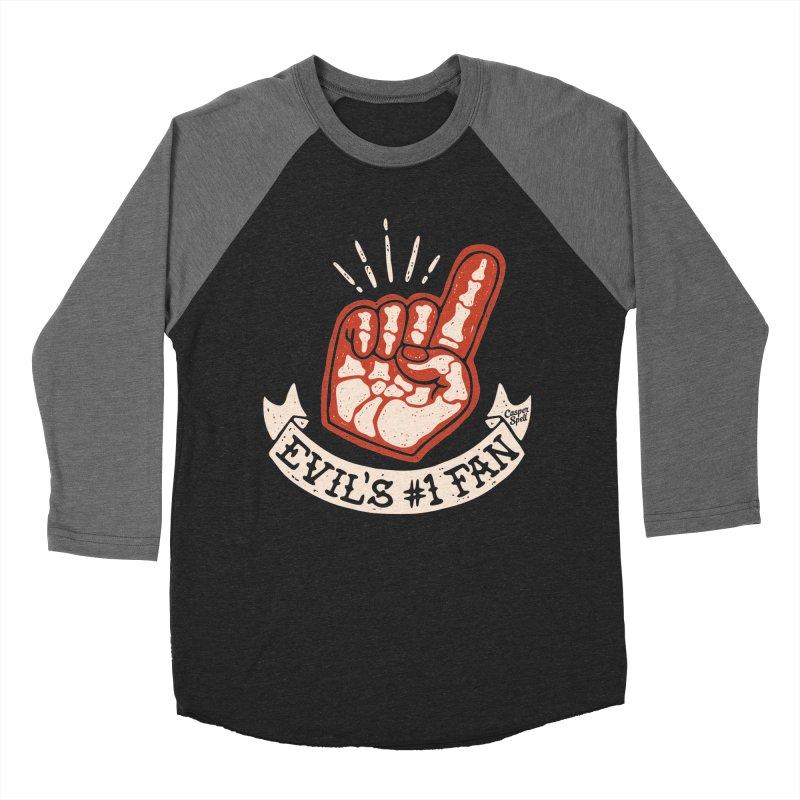 Evil's Number One Fan by Casper Spell Women's Baseball Triblend T-Shirt by Casper Spell's Shop