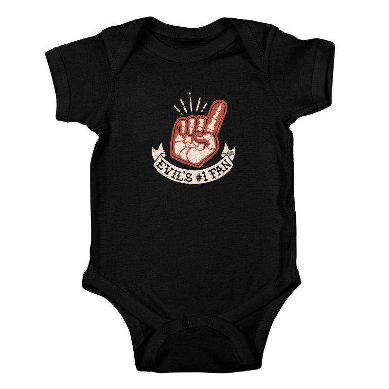Evil's Number One Fan by Casper Spell Kids Baby Bodysuit by Casper Spell's Shop