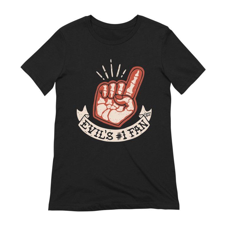 Evil's Number One Fan by Casper Spell Women's T-Shirt by Casper Spell's Shop