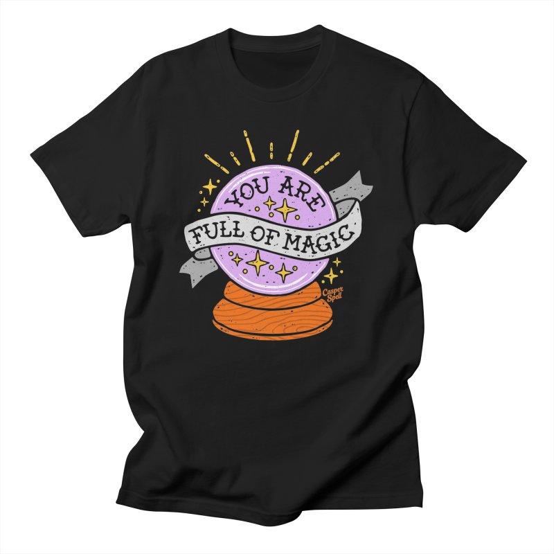 You Are Full of Magic Crystal Ball by Casper Spell Men's T-Shirt by Casper Spell's Shop