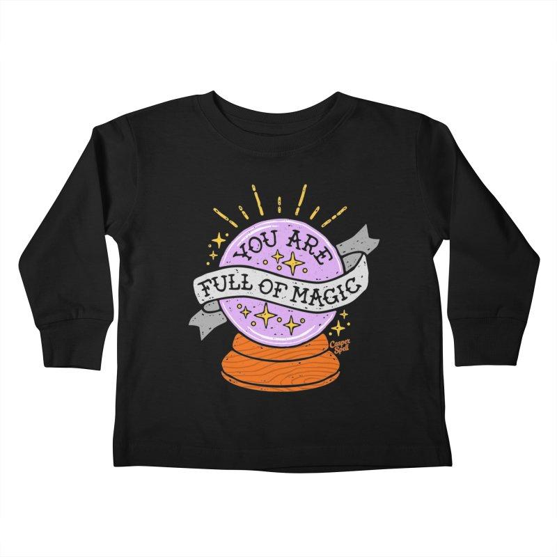 You Are Full of Magic Crystal Ball by Casper Spell Kids Toddler Longsleeve T-Shirt by Casper Spell's Shop
