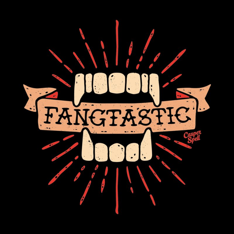 Vampire Fangs Fangtastic by Casper Spell Men's T-Shirt by Casper Spell's Shop