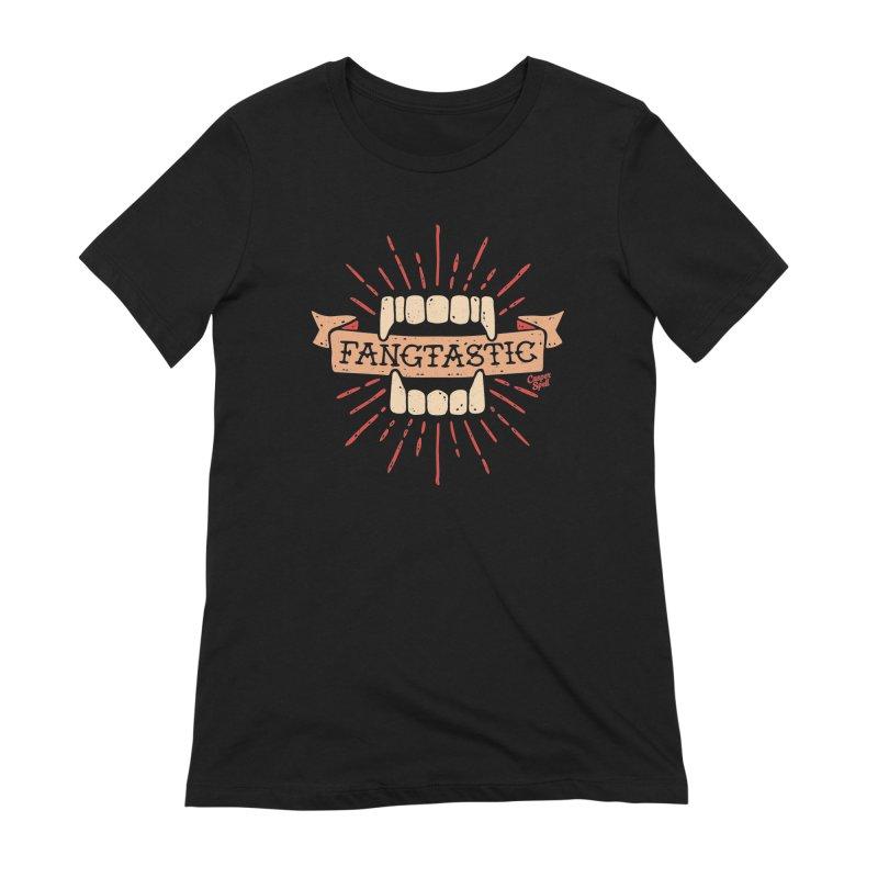 Vampire Fangs Fangtastic by Casper Spell Women's T-Shirt by Casper Spell's Shop