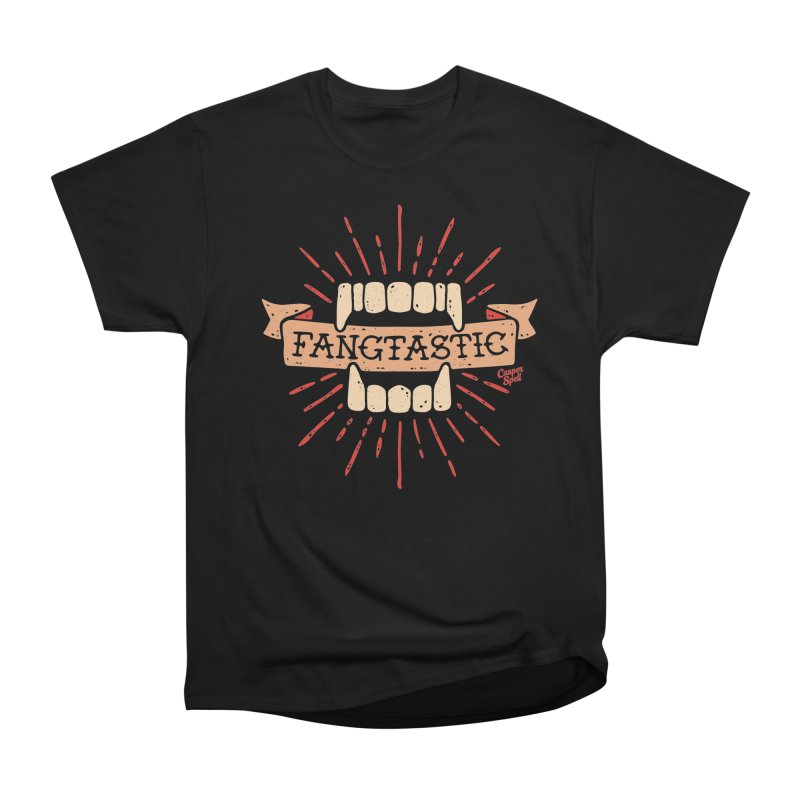 Vampire Fangs Fangtastic by Casper Spell Men's T-Shirt by Casper Spell's Shop