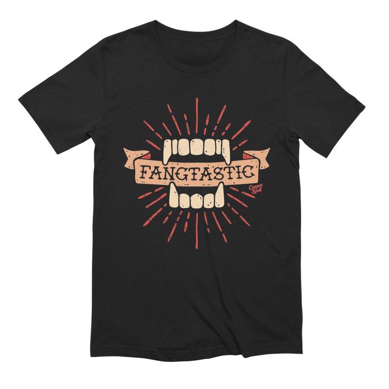 Vampire Fangs Fangtastic by Casper Spell Men's Extra Soft T-Shirt by Casper Spell's Shop