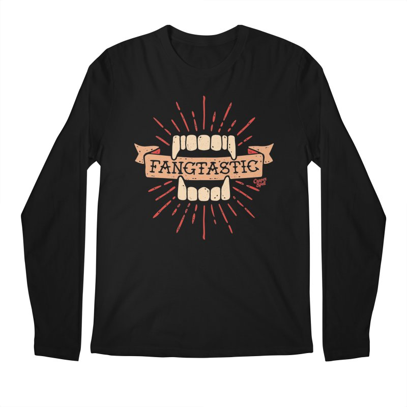 Vampire Fangs Fangtastic by Casper Spell Men's Longsleeve T-Shirt by Casper Spell's Shop