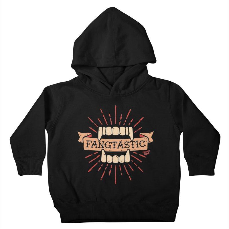 Vampire Fangs Fangtastic by Casper Spell Kids Toddler Pullover Hoody by Casper Spell's Shop