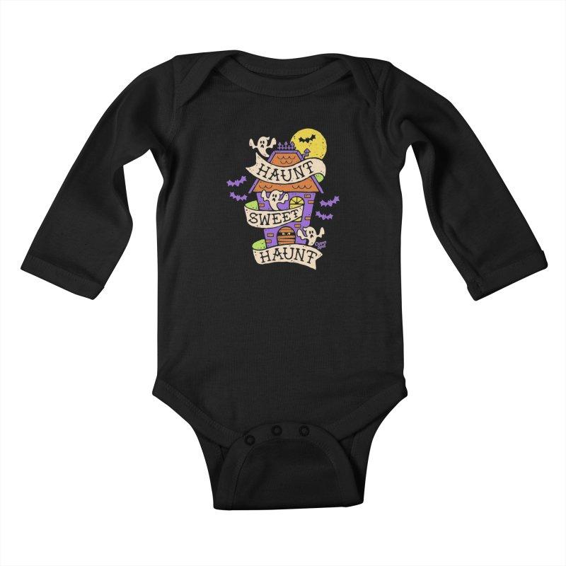 Haunt Sweet Haunt by Casper Spell Kids Baby Longsleeve Bodysuit by Casper Spell's Shop