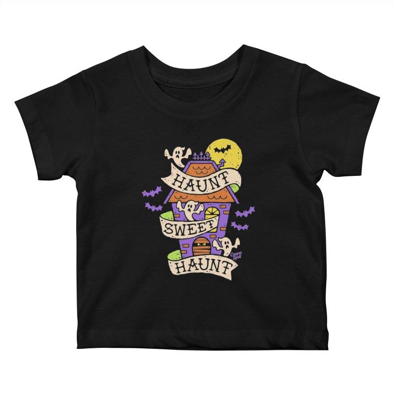 Haunt Sweet Haunt by Casper Spell Kids Baby T-Shirt by Casper Spell's Shop