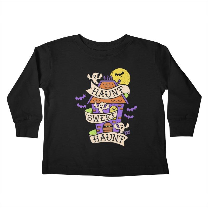 Haunt Sweet Haunt by Casper Spell Kids Toddler Longsleeve T-Shirt by Casper Spell's Shop