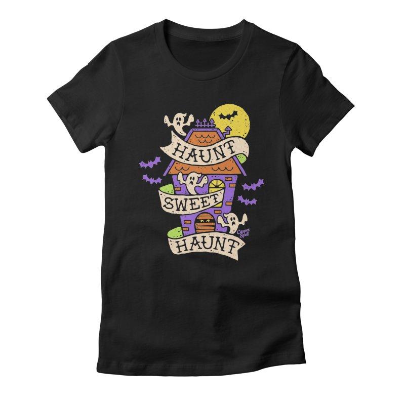 Haunt Sweet Haunt by Casper Spell Women's Fitted T-Shirt by Casper Spell's Shop
