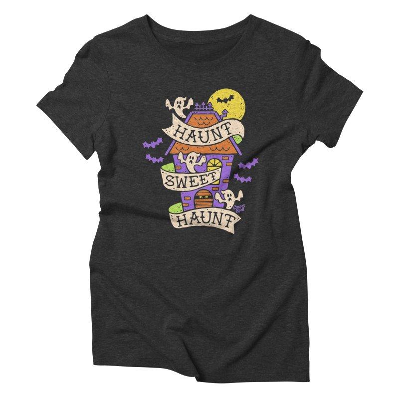 Haunt Sweet Haunt by Casper Spell Women's Triblend T-shirt by Casper Spell's Shop