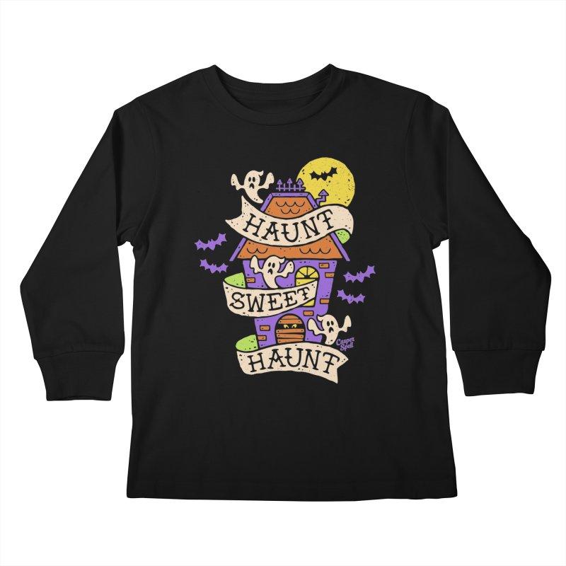 Haunt Sweet Haunt by Casper Spell Kids Longsleeve T-Shirt by Casper Spell's Shop