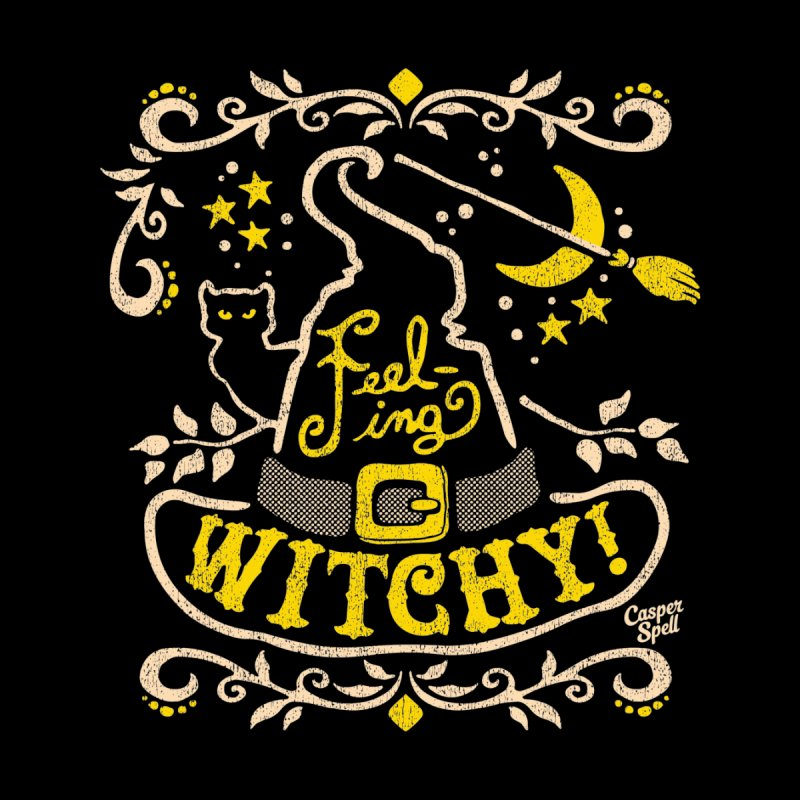 Feeling Witchy by Casper Spell Kids Longsleeve T-Shirt by Casper Spell's Shop