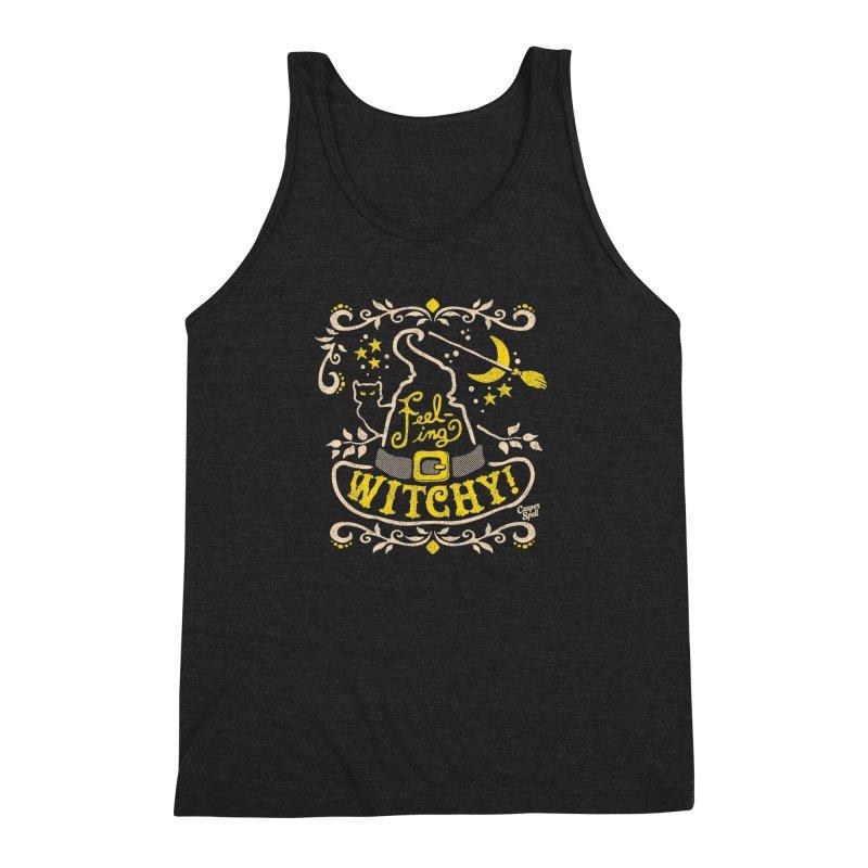 Feeling Witchy by Casper Spell Men's Triblend Tank by Casper Spell's Shop