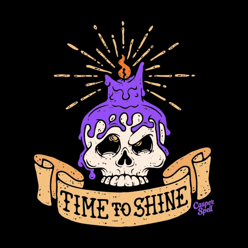 Time to Shine - Skull Candle Tattoo Kids T-Shirt by Casper Spell's Shop