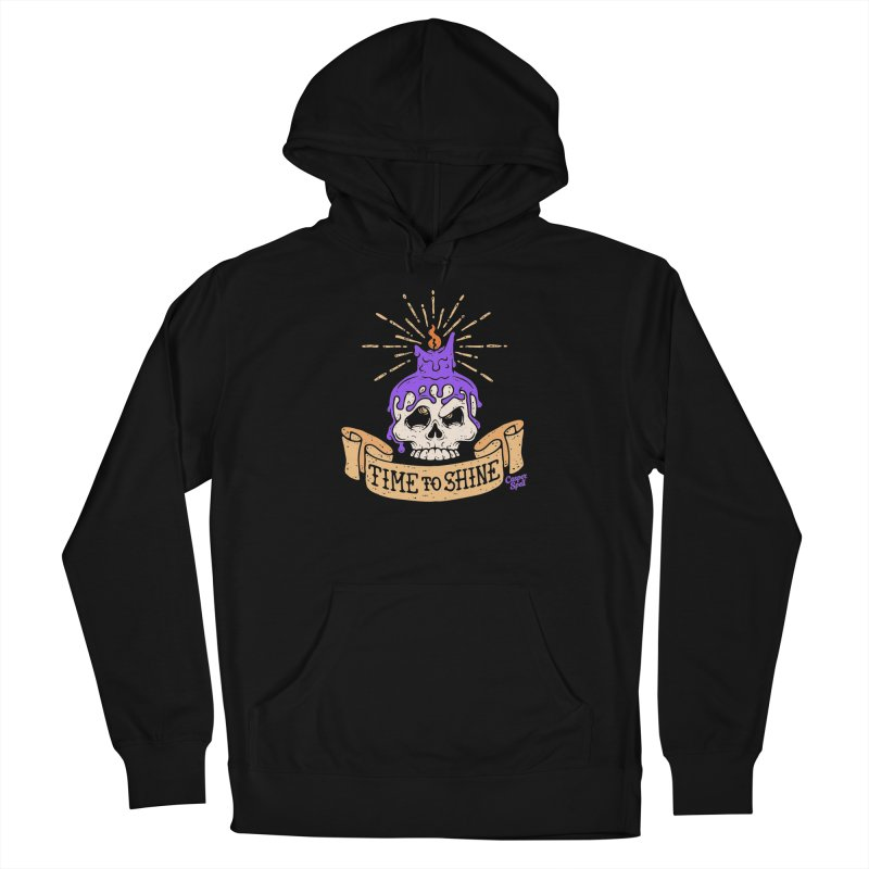 Time to Shine - Skull Candle Tattoo Women's Pullover Hoody by Casper Spell's Shop