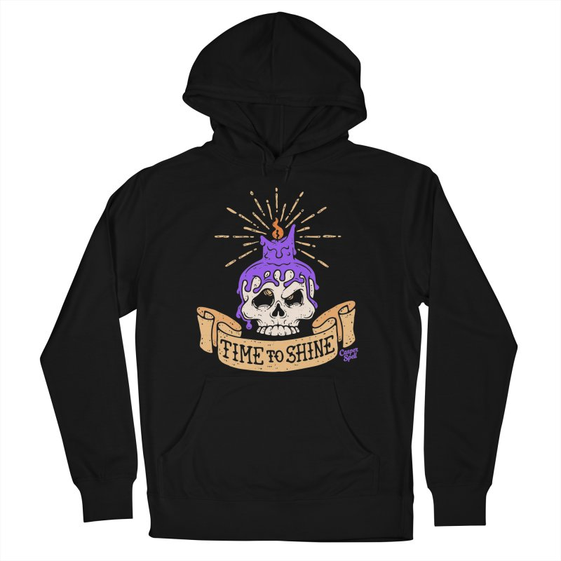 Time to Shine - Skull Candle Tattoo Men's Pullover Hoody by Casper Spell's Shop