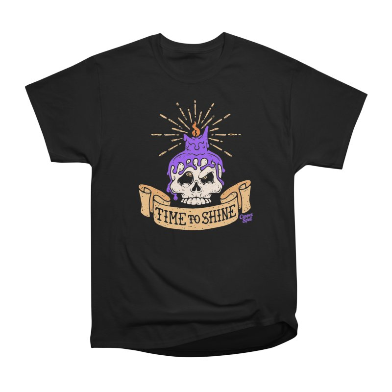 Time to Shine - Skull Candle Tattoo Men's T-Shirt by Casper Spell's Shop