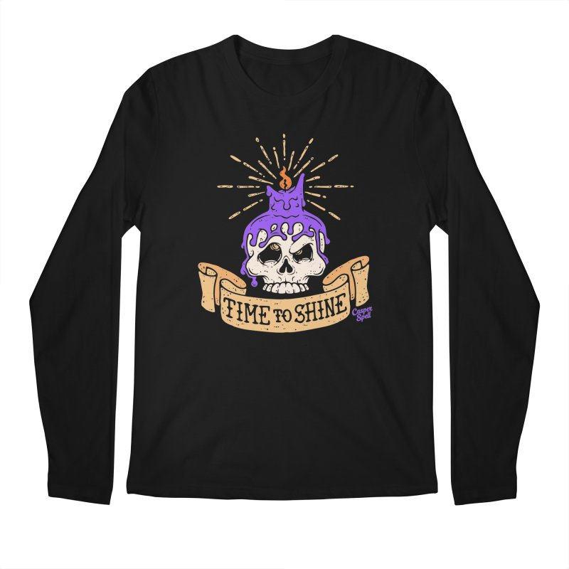 Time to Shine - Skull Candle Tattoo Men's Longsleeve T-Shirt by Casper Spell's Shop