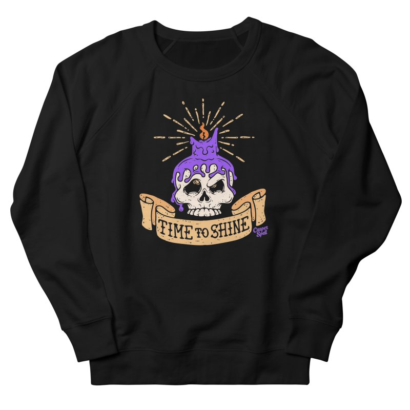 Time to Shine - Skull Candle Tattoo Women's Sweatshirt by Casper Spell's Shop