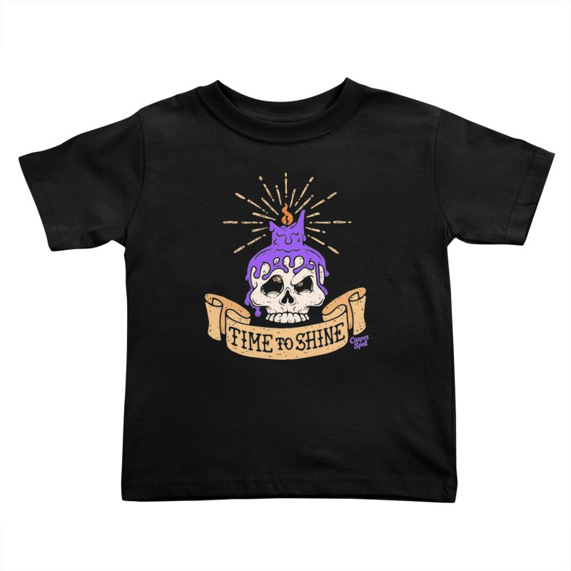 Time to Shine - Skull Candle Tattoo Kids Toddler T-Shirt by Casper Spell's Shop