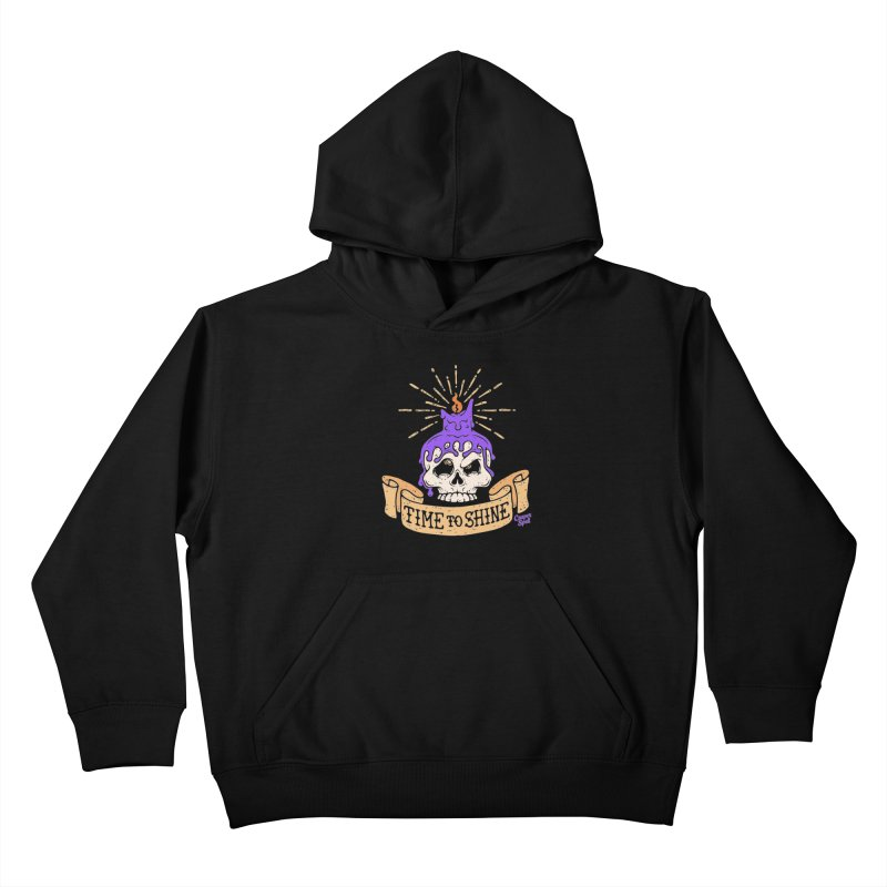 Time to Shine - Skull Candle Tattoo Kids Pullover Hoody by Casper Spell's Shop