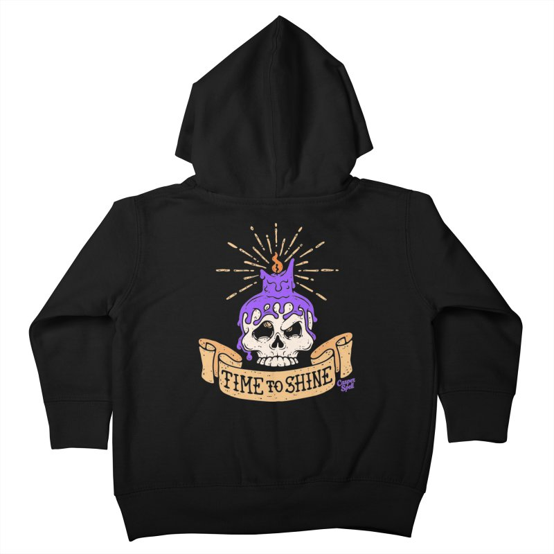 Time to Shine - Skull Candle Tattoo Kids Toddler Zip-Up Hoody by Casper Spell's Shop