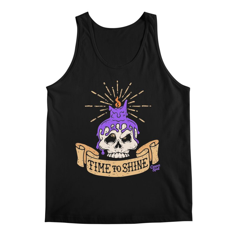 Time to Shine - Skull Candle Tattoo Men's Tank by Casper Spell's Shop