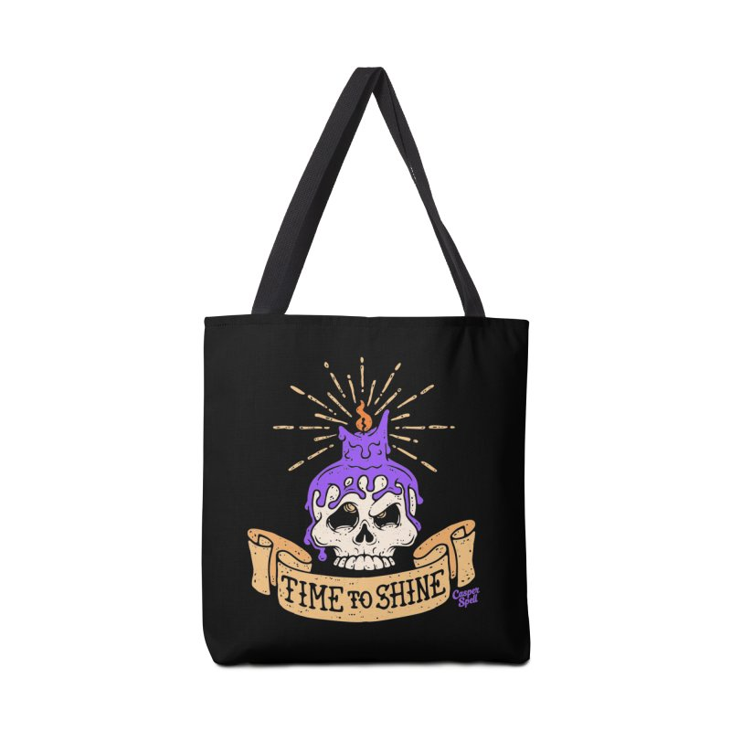 Time to Shine - Skull Candle Tattoo Accessories Bag by Casper Spell's Shop