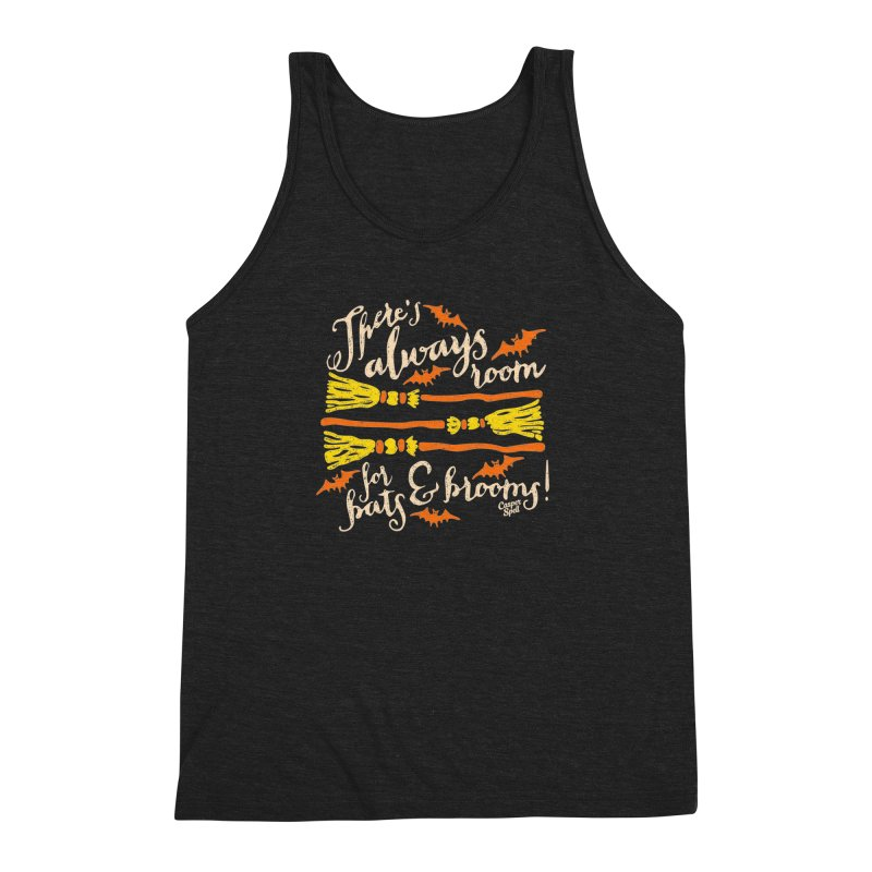 There's Always Room for Bats and Brooms Men's Triblend Tank by Casper Spell's Shop