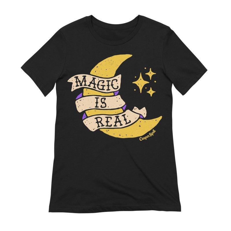 Magic Is Real by Casper Spell Women's French Terry Zip-Up Hoody by Casper Spell's Shop