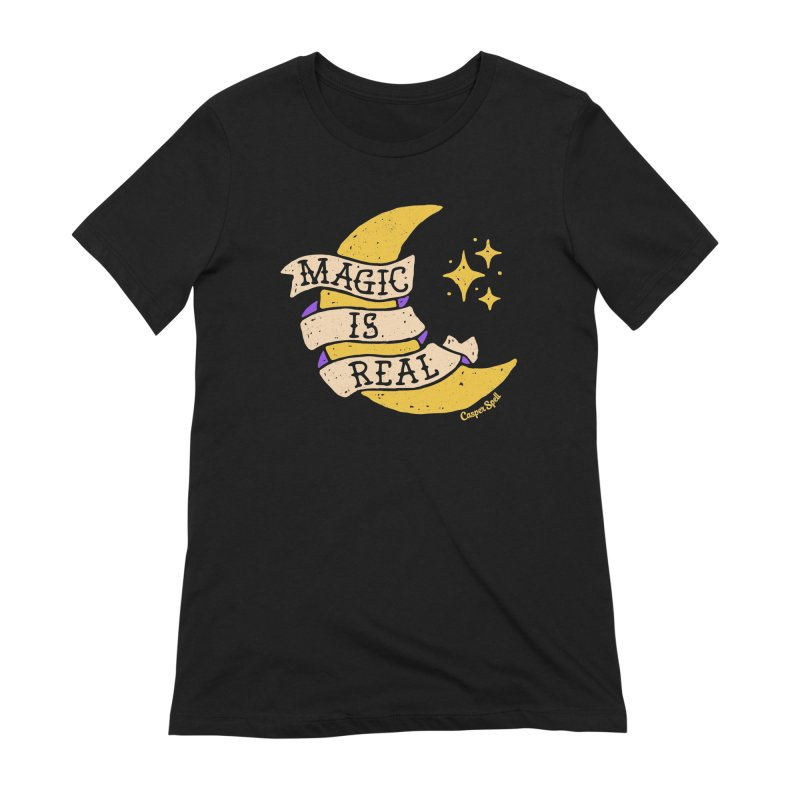 Magic Is Real by Casper Spell Women's Extra Soft T-Shirt by Casper Spell's Shop