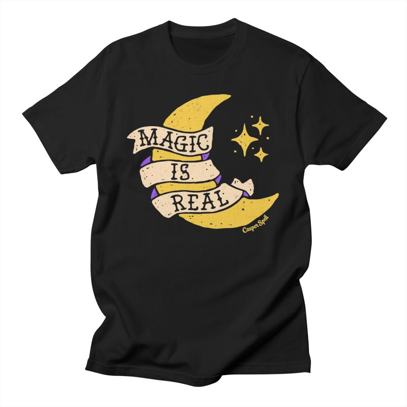 Magic Is Real by Casper Spell Men's T-Shirt by Casper Spell's Shop