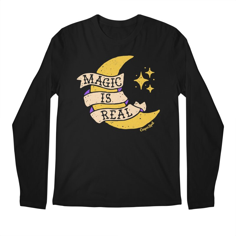 Magic Is Real by Casper Spell Men's Longsleeve T-Shirt by Casper Spell's Shop