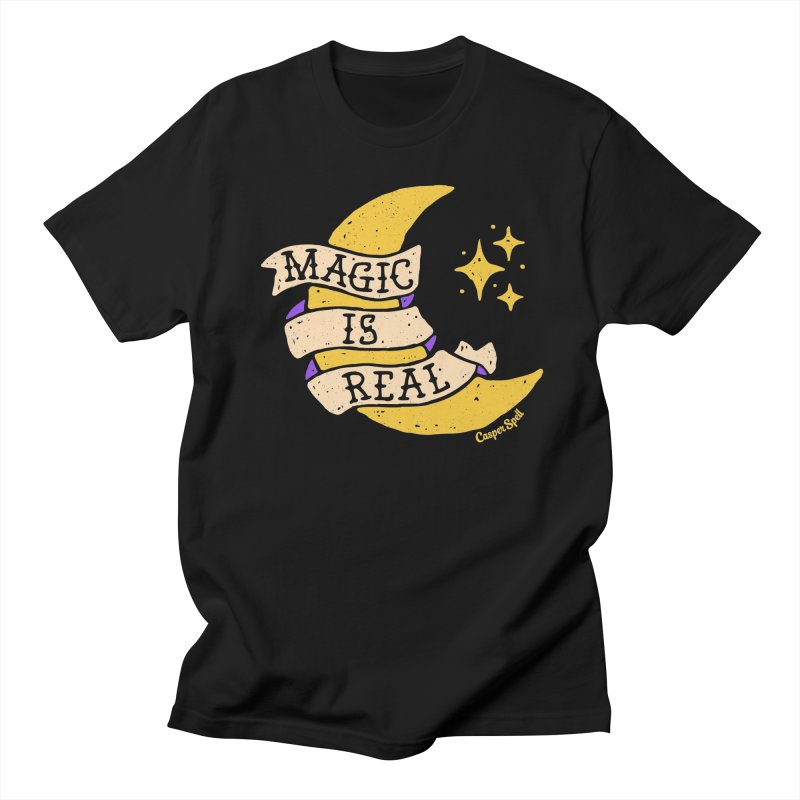 Magic Is Real by Casper Spell Men's Regular T-Shirt by Casper Spell's Shop