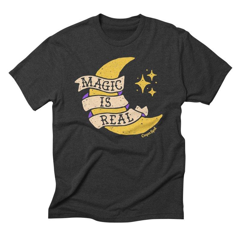 Magic Is Real by Casper Spell Men's Triblend T-shirt by Casper Spell's Shop