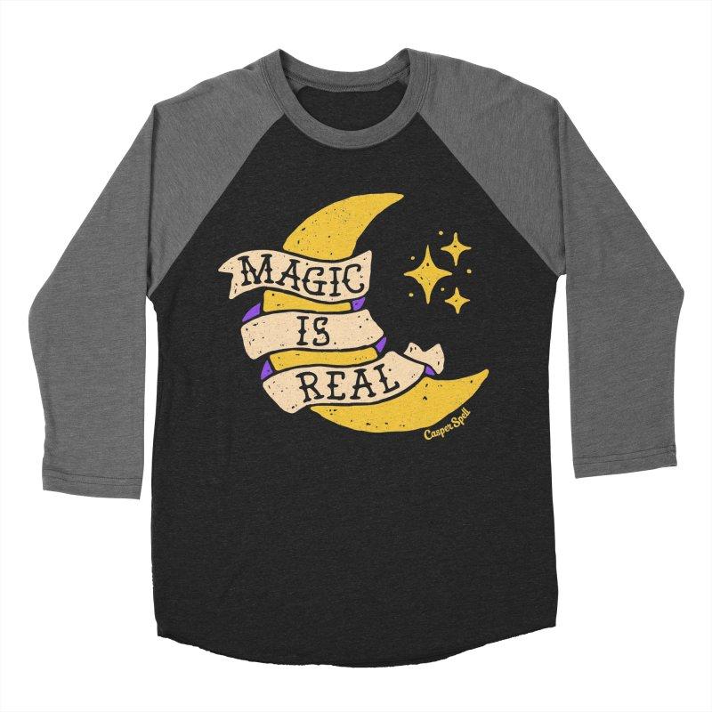 Magic Is Real by Casper Spell Women's Baseball Triblend T-Shirt by Casper Spell's Shop