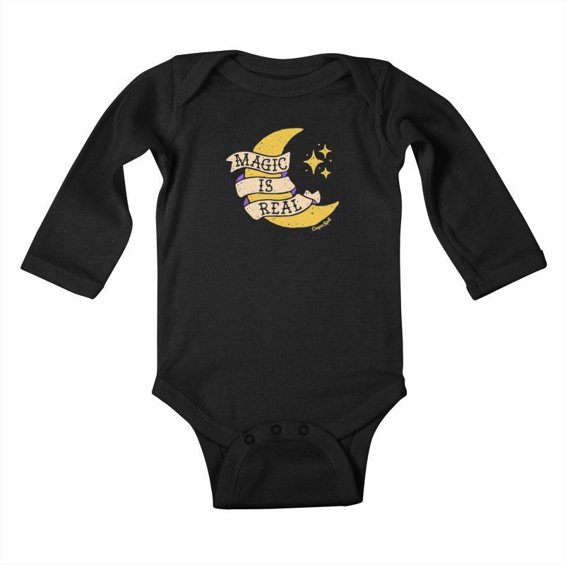 Magic Is Real by Casper Spell Kids Baby Longsleeve Bodysuit by Casper Spell's Shop