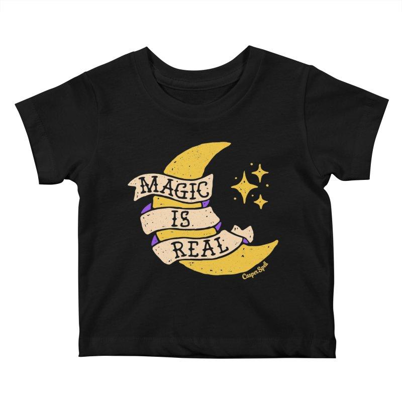 Magic Is Real by Casper Spell Kids Baby T-Shirt by Casper Spell's Shop