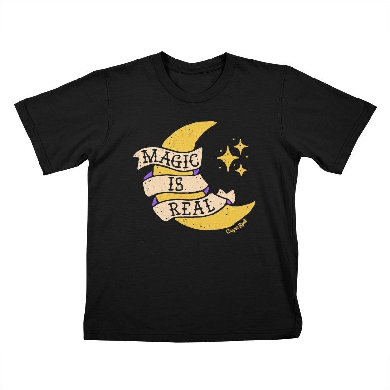 Magic Is Real by Casper Spell Kids T-shirt by Casper Spell's Shop