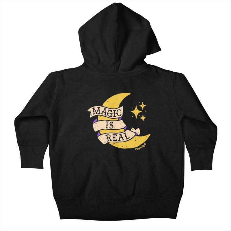 Magic Is Real by Casper Spell Kids Baby Zip-Up Hoody by Casper Spell's Shop