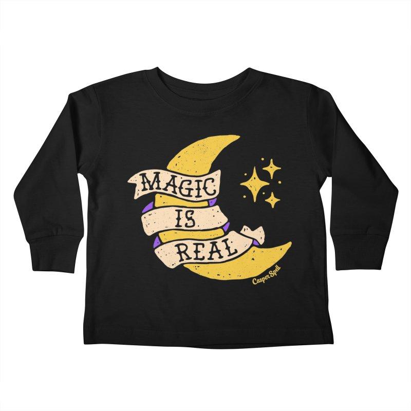 Magic Is Real by Casper Spell Kids Toddler Longsleeve T-Shirt by Casper Spell's Shop