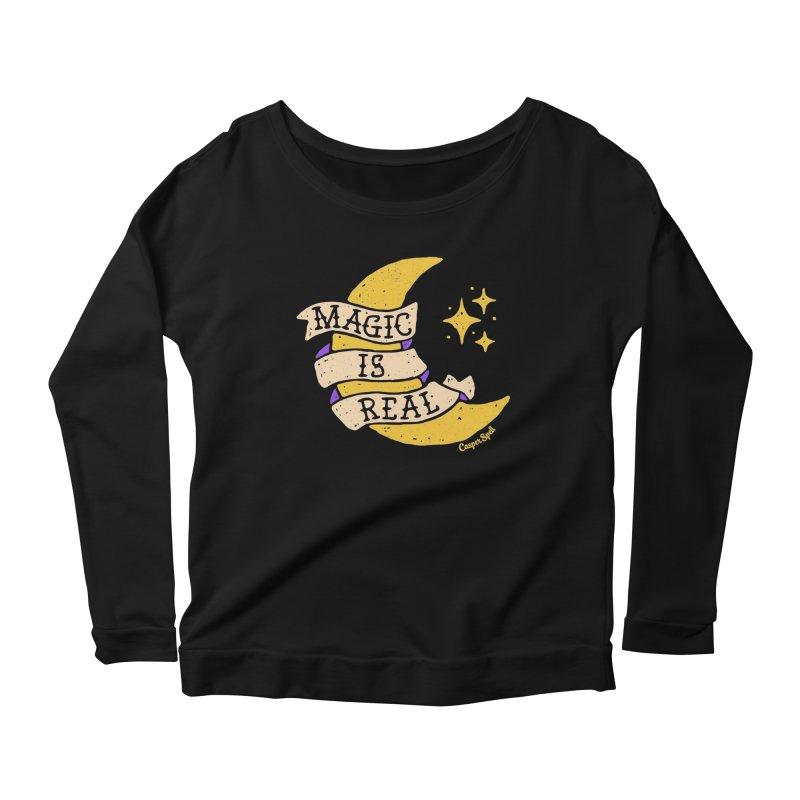 Magic Is Real by Casper Spell Women's Longsleeve Scoopneck  by Casper Spell's Shop