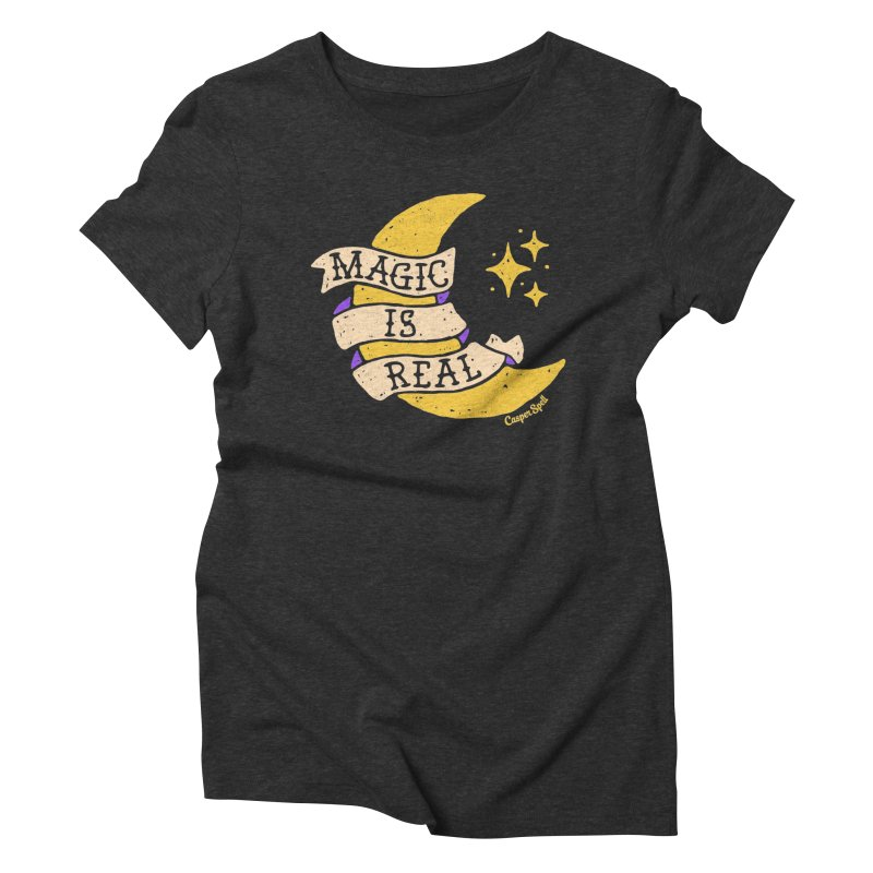 Magic Is Real by Casper Spell Women's Triblend T-shirt by Casper Spell's Shop