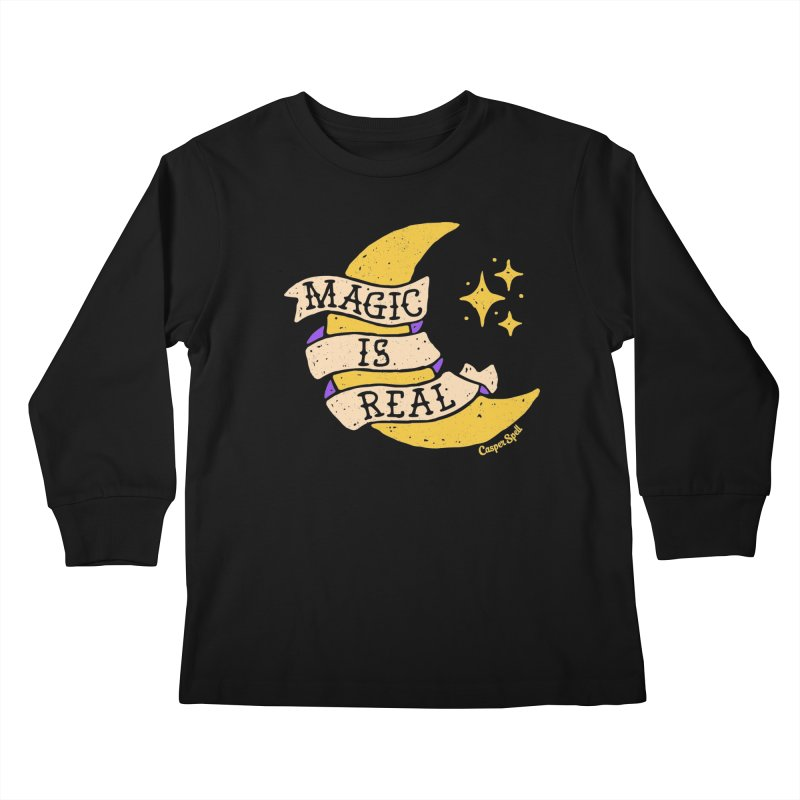 Magic Is Real by Casper Spell Kids Longsleeve T-Shirt by Casper Spell's Shop