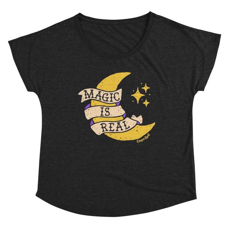 Magic Is Real by Casper Spell Women's Scoop Neck by Casper Spell's Shop