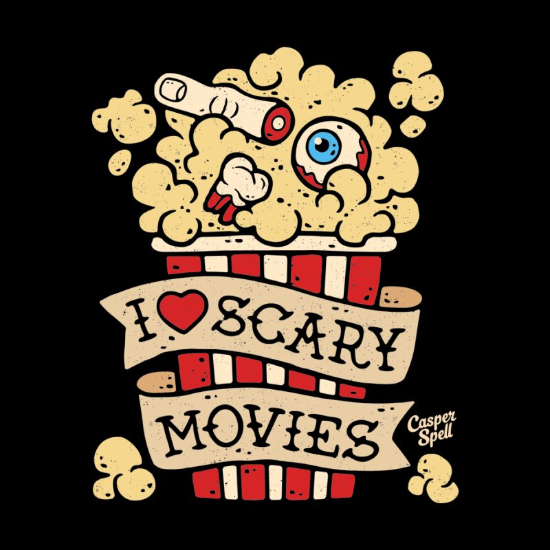 I Love Scary Movies by Casper Spell Men's T-Shirt by Casper Spell's Shop
