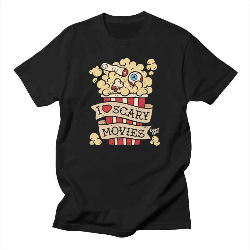 I Love Scary Movies by Casper Spell Men's T-Shirt by Casper Spell's Shop